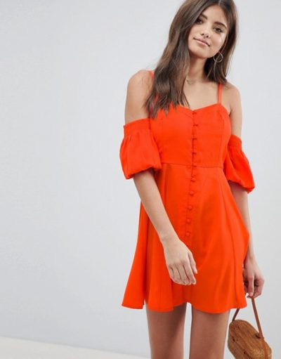 ASOS Cold Shoulder Sundress