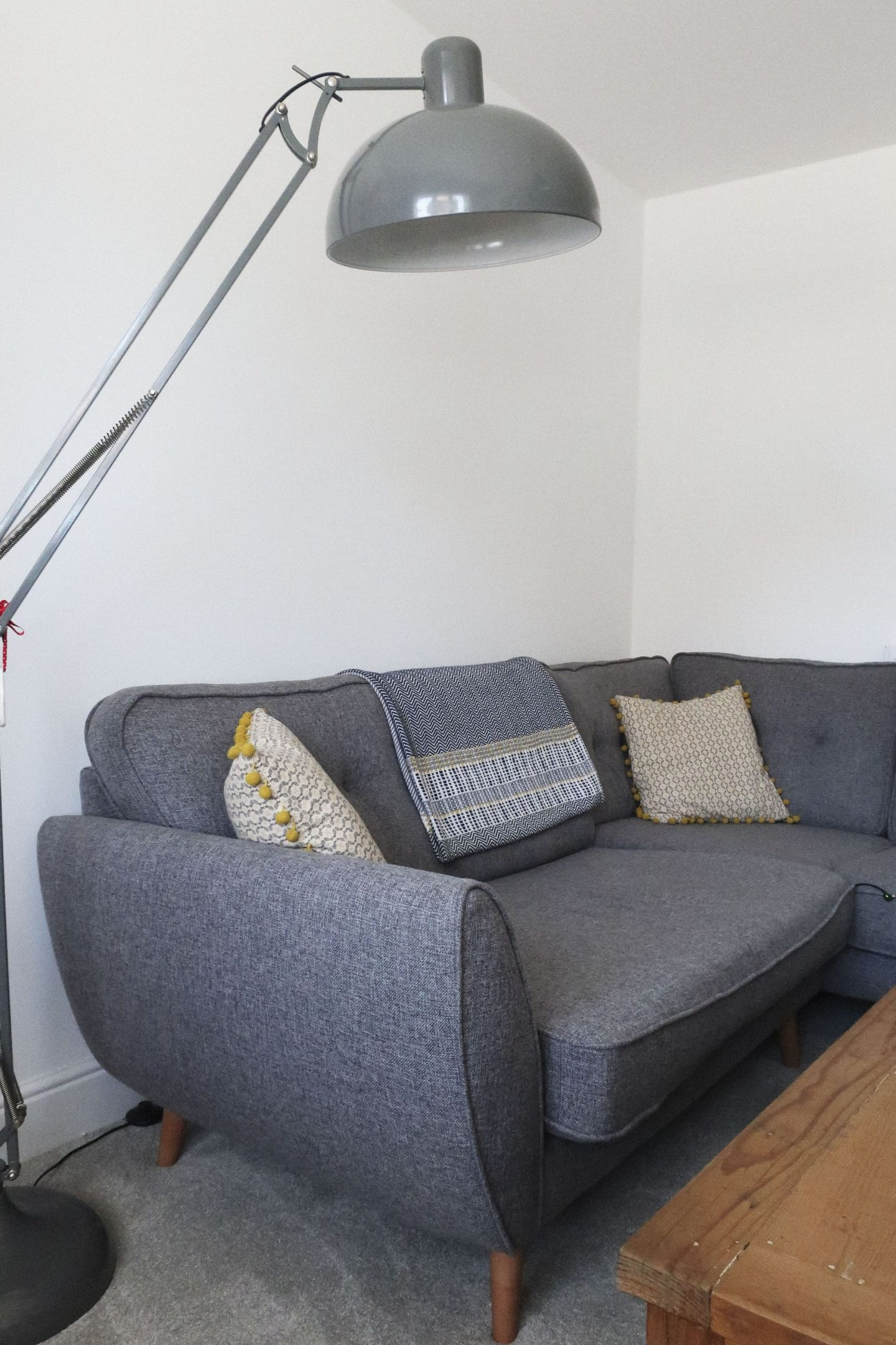 dfs zinc corner sofa