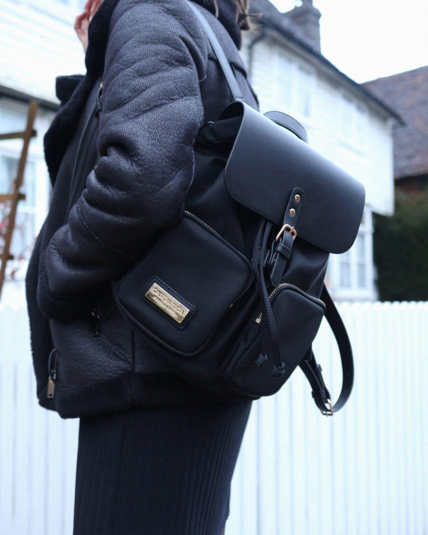 gaston luga black parlan bag