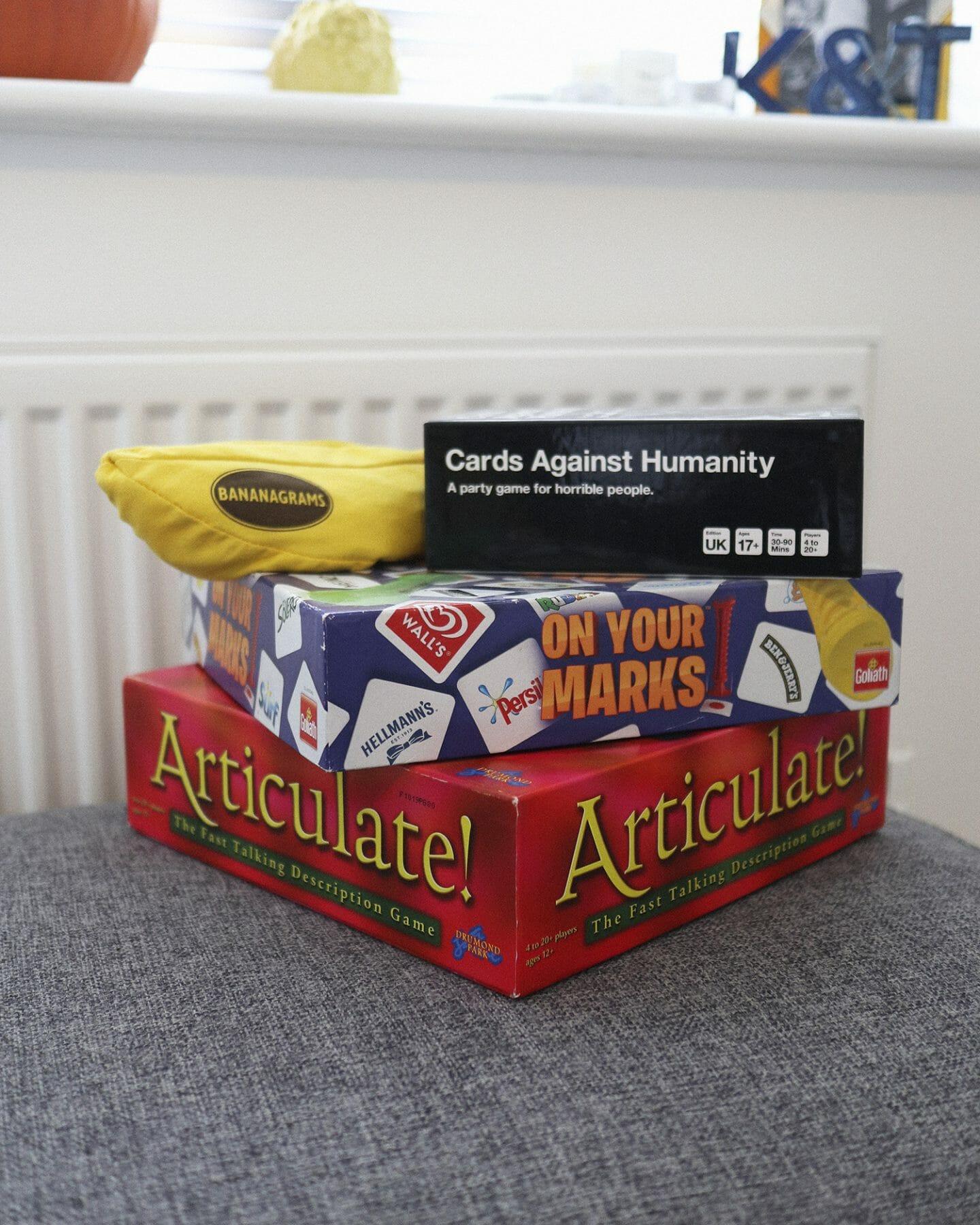 board games and bananagrams