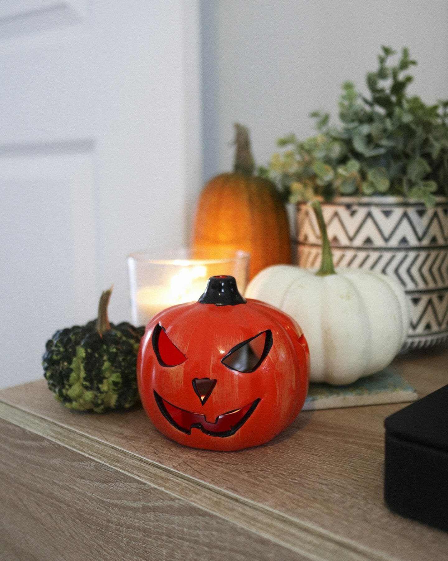 halloween night in decorations